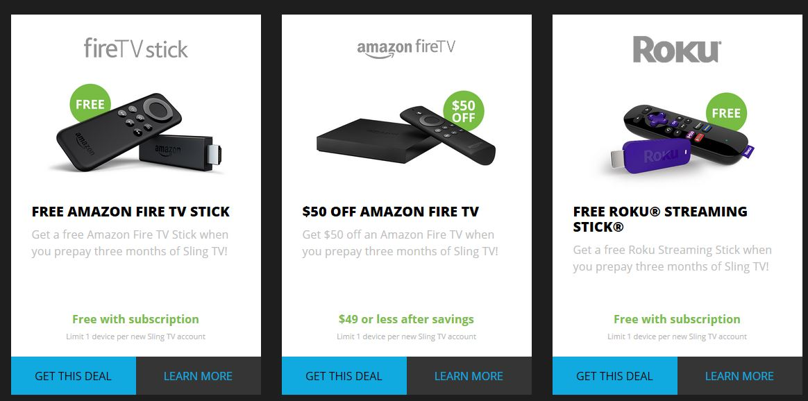 sling tv free fire tv