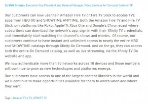 comcast fire tv